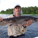 Simon with a dogtooth tuna.