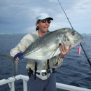 Simon & a giant trevally.