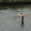 James fishing the Ridge Pool, R.Moy. Aug 2011.