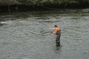 James fishing the Ridge Pool, R.Moy. Aug 2011.