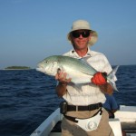 Blue fin trevally caught by J.E.P.R.
